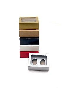 Kit caixa VR5 (14x11x5 cm)  para Ovo de Páscoa de colher + berço 2x50g - Embalagem com 20