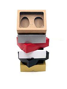 Kit caixa VR7 (19x15x6 cm)  para Ovo de Páscoa de colher + berço 2x100g - Embalagem com 20