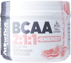 Bcaa 2: 1: 1 + Energy - 210g Pink Lemonade - , Athletica Nutrition