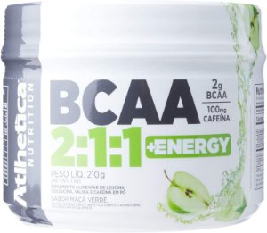 Bcaa 2: 1: 1 + Energy - 210g maçã verde, Athletica Nutrition