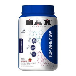 TOP WHEY 3W - MAX TITANIUM (MORANGO E CHOCOLATE)