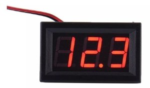 Display Voltímetro 4,5V A 30V Vermelho