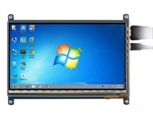 Kit Tela Lcd Touch Screen 7 Polegada 800x480 Para Raspberry