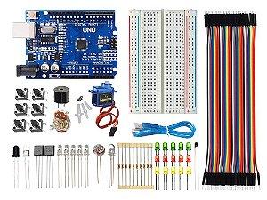 Kit Uno SMD Básico Iniciante Baseado No Arduino Ide C/ 115 PEÇAS