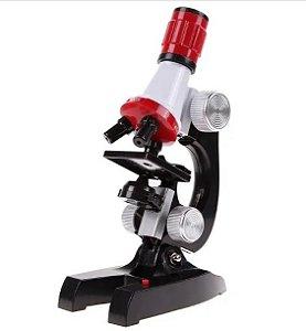 Microscópio Educacional 100X-1200X400
