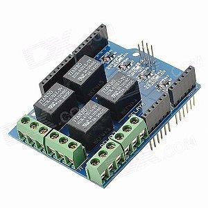 Módulo Shield Com Relé 4 Canais Para Arduino
