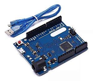 Placa Leonardo R3 + Cabo USB