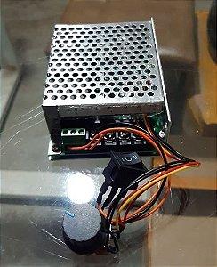 CONTROLADOR PWM C/ REVERSÃO 10-55V 60A  - METÁLICO