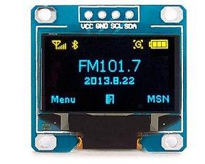 "DISPLAY LCD OLED  I2C 0.96"" AZUL COM AMARELO"