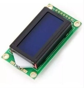 DISPLAY LCD 8X2 BACKLIGHT AZUL PARA ARDUINO