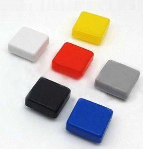 TAMPA PLASTICA QUADRADA PARA CHAVE TACTIL 12x12x7.3 mm
