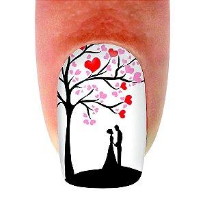 Adesivo de unha Dia dos Namorados Árvore Do Amor 02 com 12un