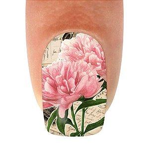 Adesivo de Unha Flor Rosa Claro