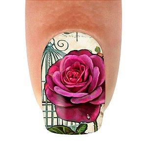 Adesivo de Unha  Flor Pink