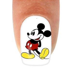 Adesivo de Unha Personagens Mickey com 12un