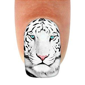 Adesivo de Unha Tigre Branco