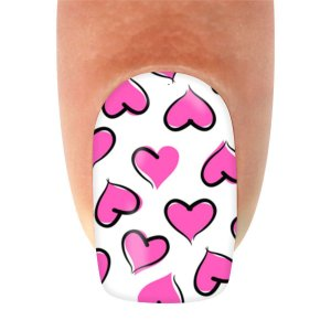 Adesivo de Unha Coração Pink