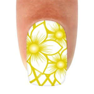 Adesivo de Unha Flor Dourada Flat