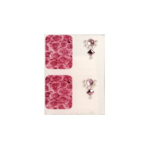 Adesivo de Unha Jóia Luxo Floral Rosas 145 - 4un