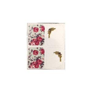 Adesivo de Unha Jóia Luxo Rosas 165 - 4un