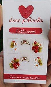 Adesivo de Unha Premium Flor e Duas Margaridas 115