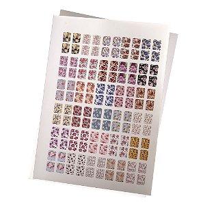 Cartelão de Peliculas de Unhas Tradicionais Floral - 120un