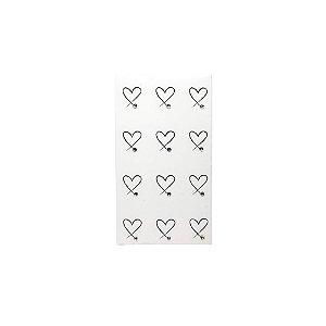 Adesivo de Unha Impressas com Joia Coração com Strass
