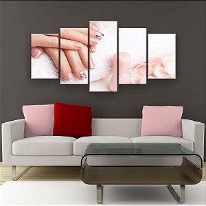 Quadro Decorativo Unhas Delicadas 129x61cm Sala Quarto
