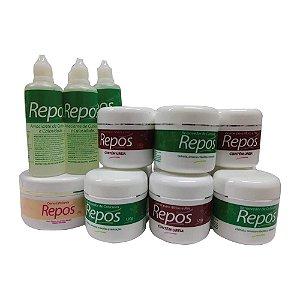 Kit Repos (5 unid repos creme 120g + 5 unid repos creme ureia 120g + 5 unid repos liquido 120ml + 1 unid repos esfoliante 250g