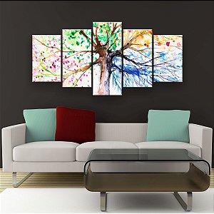 Quadro Decorativo Desenho Árvore Galhos 129x61cm Sala Quarto