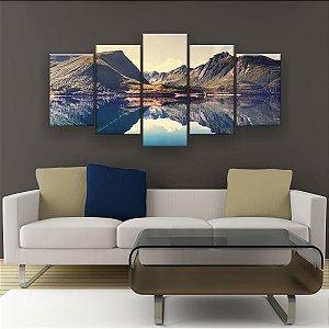 Quadro Decorativo Paisagem Da Noruega 129x61cm Sala Quarto