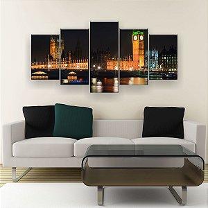 Quadro Decorativo Horizonte De Londres 129x61cm Sala Quarto