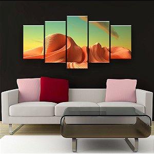 Quadro Decorativo Mundo Alienígena 129x61cm Sala Quarto