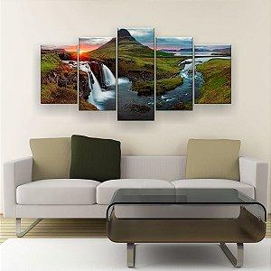 Quadro Decorativo Paisagem Da Islândia 129x61cm Sala Quarto