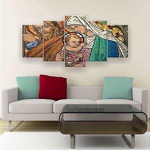 Quadro Decorativo Jesus 129x61cm Sala Quarto