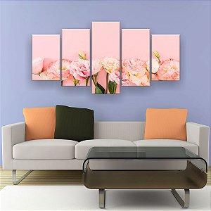 Quadro Decorativo Rosas 129x61cm Sala Quarto