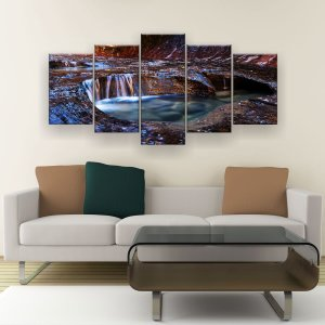 Quadro Decorativo Gruta 129x61cm Sala Quarto