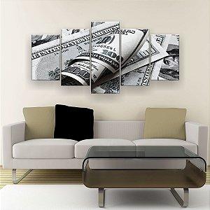 Quadro Decorativo Dólar 129x61cm Sala Quarto