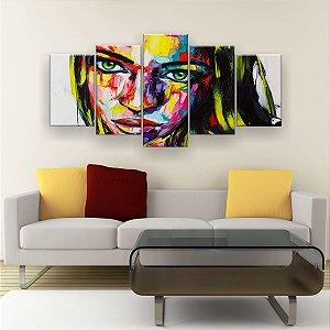 Quadro Decorativo Mulher Loira 129x61cm Sala Quarto