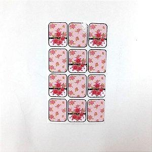 adesivo de unha flores 176
