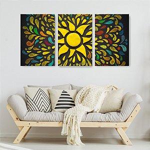 Quadro Decorativo Sol 115x57cm Sala Quarto