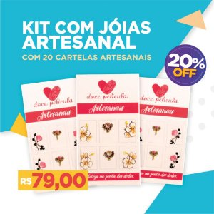 Kit Joias Artesanais com 20 Cartelas Artesanais