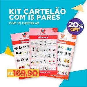 Kit Cartelão com 15 pares