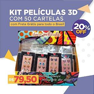 Kit Películas 3D 50 unidades