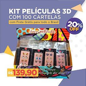 Kit Películas 3D 100 unidades