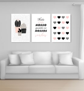 Quadro Decorativo Nossos Sonhos 115x57cm Sala Quarto