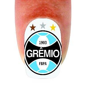 Adesivo de Unha Time 01 Grêmio - 12un