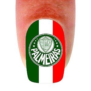 Adesivo de Unha Time 09 Palmeiras - 12un