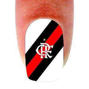 Adesivo de Unha Time 11 Flamengo - 12un