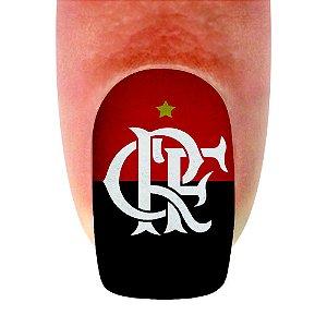 Adesivo de Unha Time 12 Flamengo - 12un